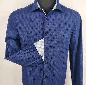 English Laundry Casual Button Blue Shirt Size XL